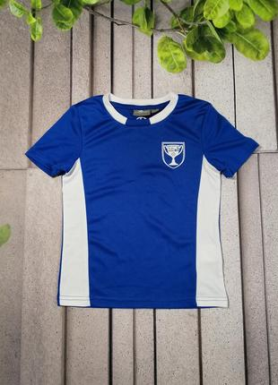 Футболка синего цвета для маленького футболиста уценка