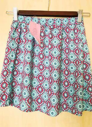 💣 sale! ультралегкая юбка из вискозы девочке, размеры 116 и 140