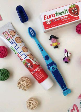 Набор детская зубная щетка и паста от 3х лет