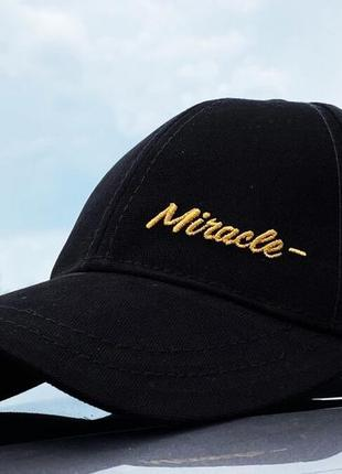 Кепка miracle gold line black