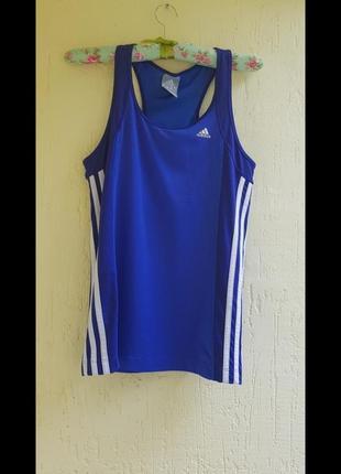 Спортивна майка+топ бійцівка adidas climalite 3 полоски для спорту бігу йоги фітнесу зал