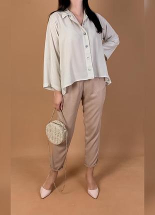 Рубашка объемная блуза bitte kai rand