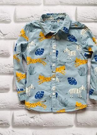 M&s стильная рубашка на мальчика 2-3 года