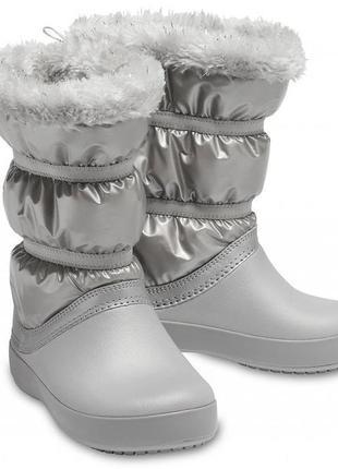 Зимние сапоги crocs metallic