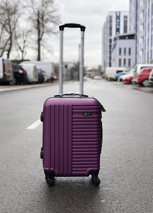 Акция! чемодан пластиковый маленький для ручной клади / валіза пластикова маленька