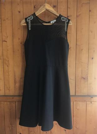 Шикарное чёрное платье papaya