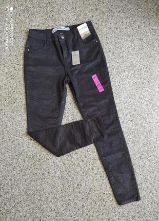 Стрейчевые брюки (скинни,джинсы, лосины) с глиттером