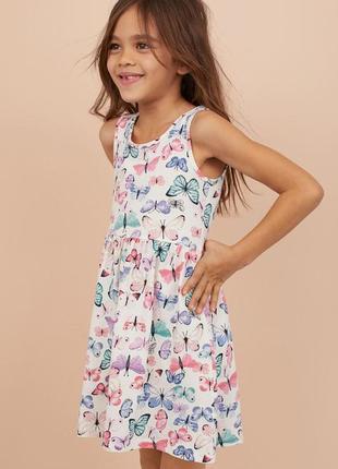 Брендовое легкое трикотажное платье для девочки h&m