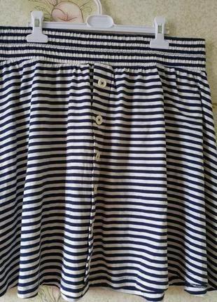 Женская юбка большого размера # полосатая юбочка # tu