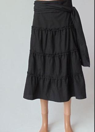 Черная легкая юбка миди voodoo dolls