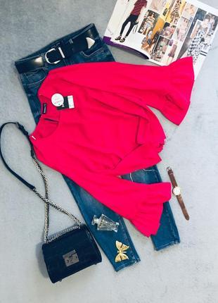 Новая красивейшая/ легкая/ свободная блуза с объёмными рукавами janina