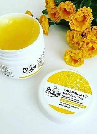 Крем-бальзам для чутливої і проблемної шкіри з маслом календули dr.tuna farmasi