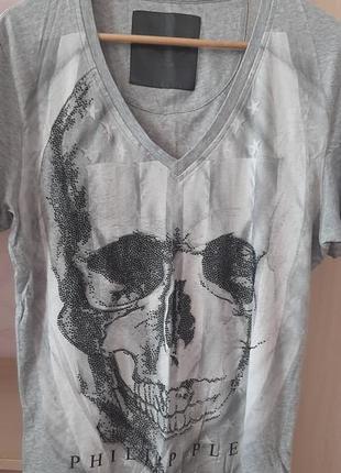 Мужская футболка, phillip plein, оригинал