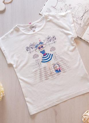 Летняя футболка для девочки ovs kids италия