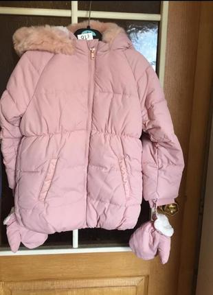 Новая пудровая куртка george на 1.5-2года
