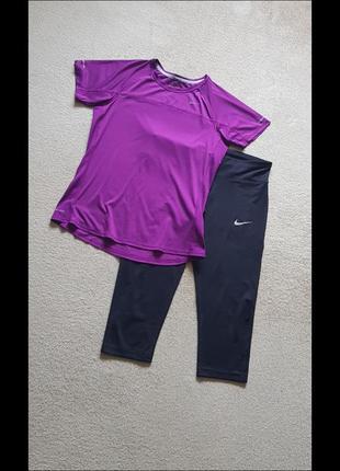 Спортивна футболка nike dri-fit для бігу тренувань в залі фітнес йога аеробіка