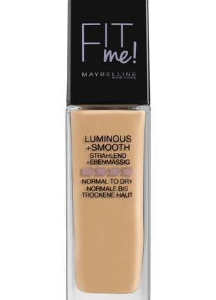 Maybelline new york fit me luminous & smooth liquid foundation  жидкая тональная основа