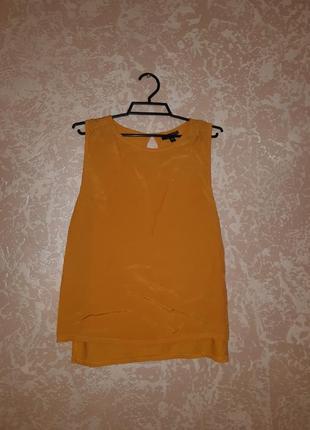 Блуза гірчичного кольору topshop