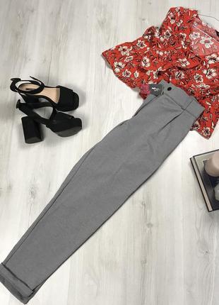 N8 теплые брюки irina серые утепленные классические женские новые