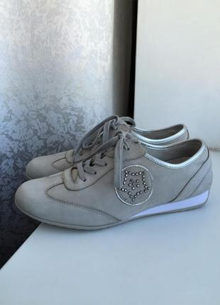 Кожаные кроссовки gabor 39-40 р., как clarks geox ecco, шкіряні кросівки