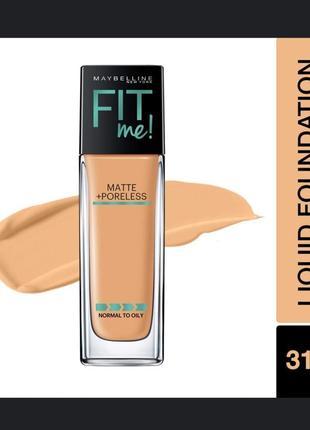Тональное средство maybelline fit me matte + poreless foundation тон 310
