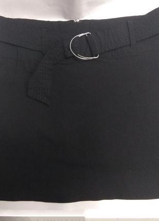 Юбка черная с поясом tammy 158 см школьная