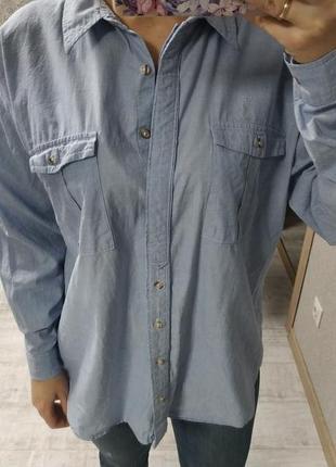Стильная хлопковая базовая рубашка