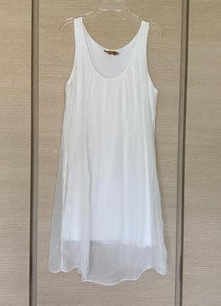 Шёлковая туника ( платье) bella regazza размер м