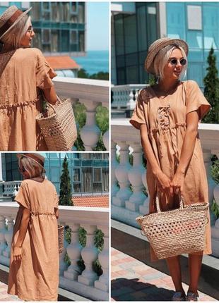 Платье украинский бренд по цене ниже чем zara ткань 100%  лён