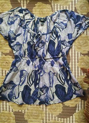 Воздушная блузка из 100% хлопка h&m