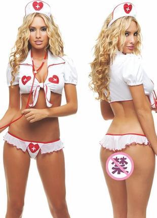 5-201 эротический костюм медсестра сексуальний комплект білизни