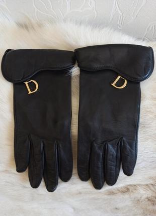 """Перчатки кожаные dior из серии """"седло"""""""