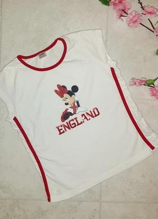 1+1=3 модная белая футболка с микки маусом marks&spencer на девочку 10 лет