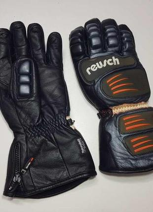 Мотоперчатки кожаные, reusch racing, утепленные, как новые!