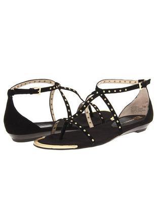 Anne klein оригинал сандалии босоножки черная замша  бренд из сша р.36
