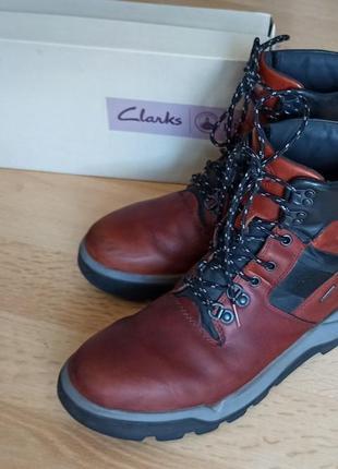 Clarks оригинал, мужские зимние кожаные ботинки 42,5 размер.