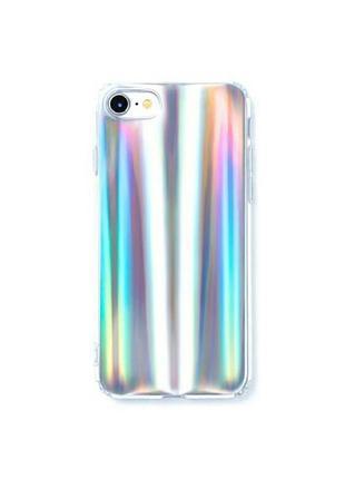 Зеркальный голографический лазерный чехол на iphone 6 plus/6s plus айфон 6+ 6s+