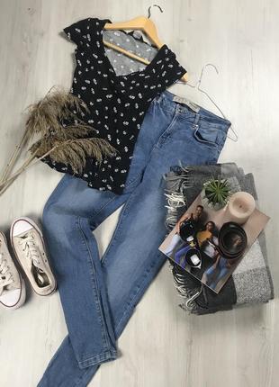 N8 джинсы primark высокие штаны женские брюки синие джинсы примарк