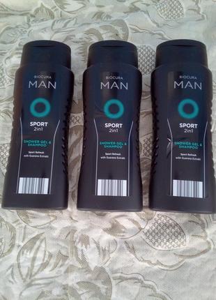 2в1 мужской гель для душа и шампунь