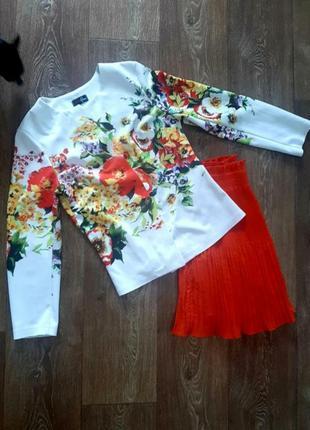 Пиджак жакет кофта кардиган в цветы