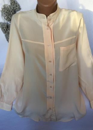 Нежная , воздушная рубашка , с широкими рукавами , шёлк 100%