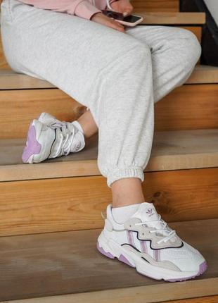 Кроссовки adidas ozweego шикарные кроссовки женские (отражают свет)