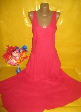 Очень красивое женское платье в пол next  рр 12  грудь 47 см 55% лен  45 % вискоза