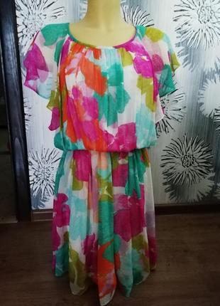 Шифоновое платье calvin klein