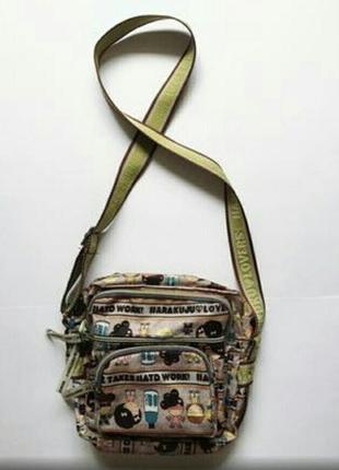 Крутая японская сумчона кросс- боди