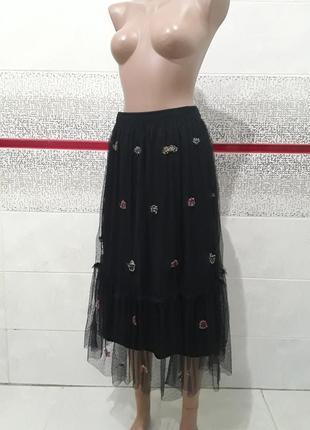 Стильная юбка сетка