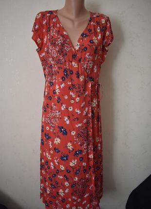 Красивое платье на запах с принтом h&m