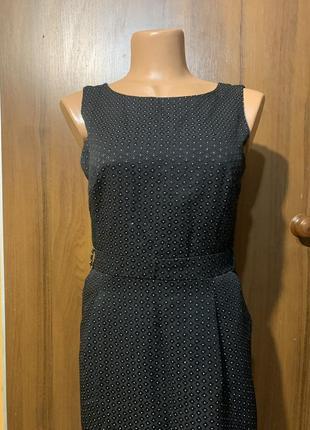 Платье офис карандаш с карманам