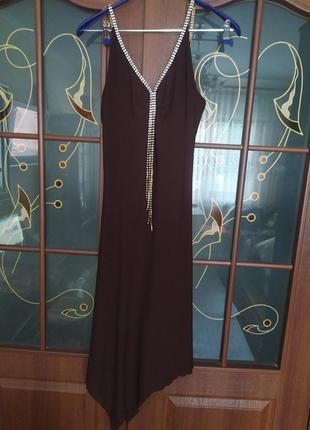 Вечернее платье шоколадного цвета jadore