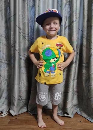 Детская футболка brawl stars 5-8 лет 4200-6